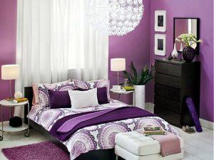 اتاق خواب بنفش