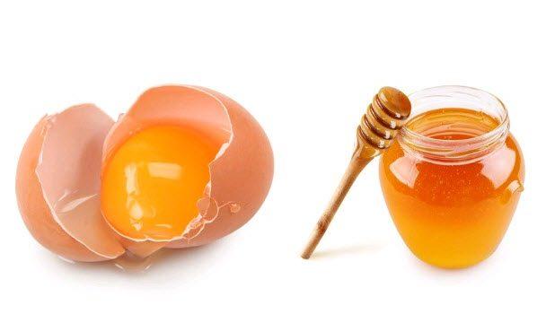 زرده تخم مرغ و عسل